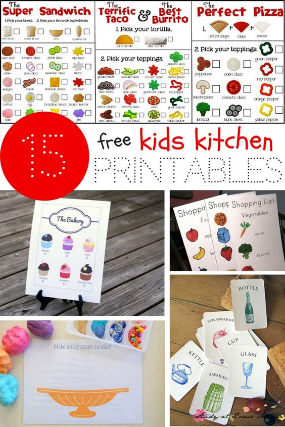 Kids Kitchen Printables Pretend play, Everything and Kid