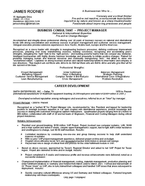 good resume resume examples and resume on pinterest