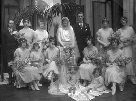 The Wedding Party Present At The Marriage Of John Albert