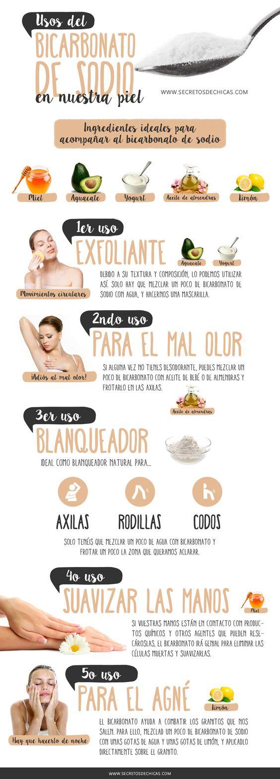 Usos del bicarbonato de sodio para la piel