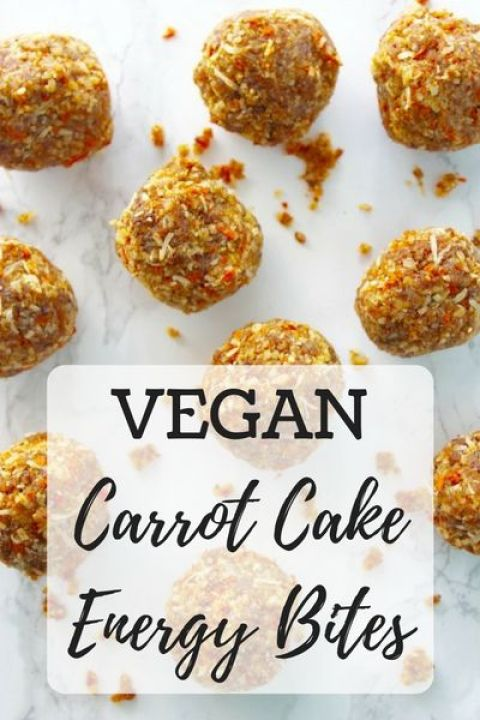 carrot cake, carrot cake energy bites, healthy, healthy snack, vegan, vegetarian, raw food: