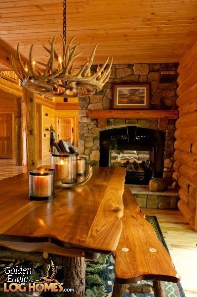 Antler Chandelier Antlers And Tables On Pinterest