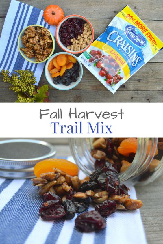 Fall Harvest Trail Mix #BetterWithCraisins #ad - My Big Fat Happy Life: