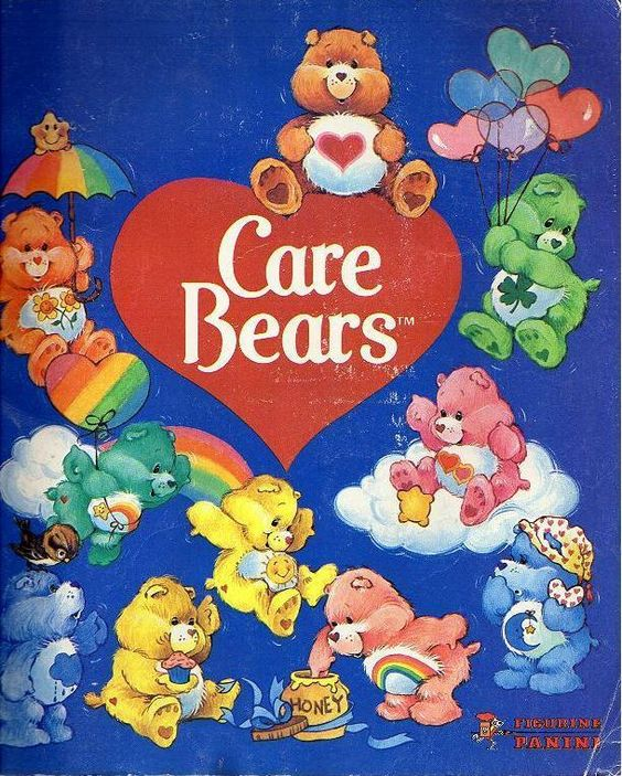 Care Bears!! Gawd we had so much cooler cartoons than kids now: sponge bob, dora, handy manny, all CRAP! Care Bear stare, you know you wanna.:
