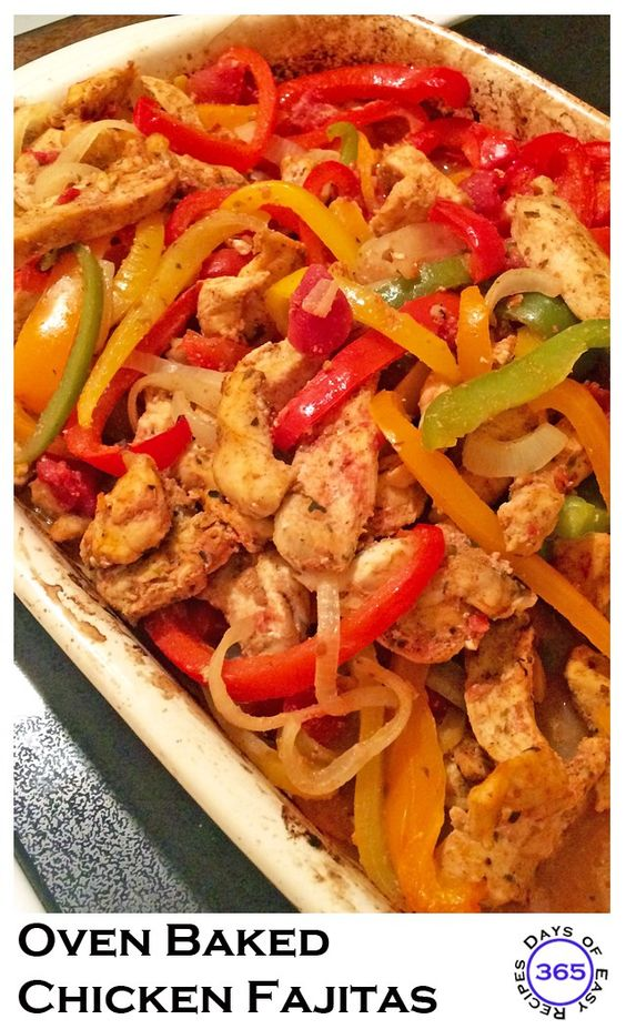 Oven Baked Chicken Fajitas | 365 Days of Easy Recipes: