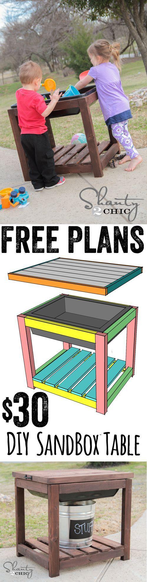 DIY Sandbox Table Sandbox, Tables and DIY and crafts