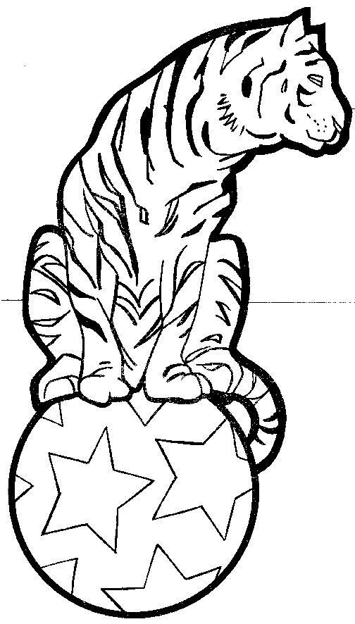 clown coloring pages circus tiger coloring page pictures