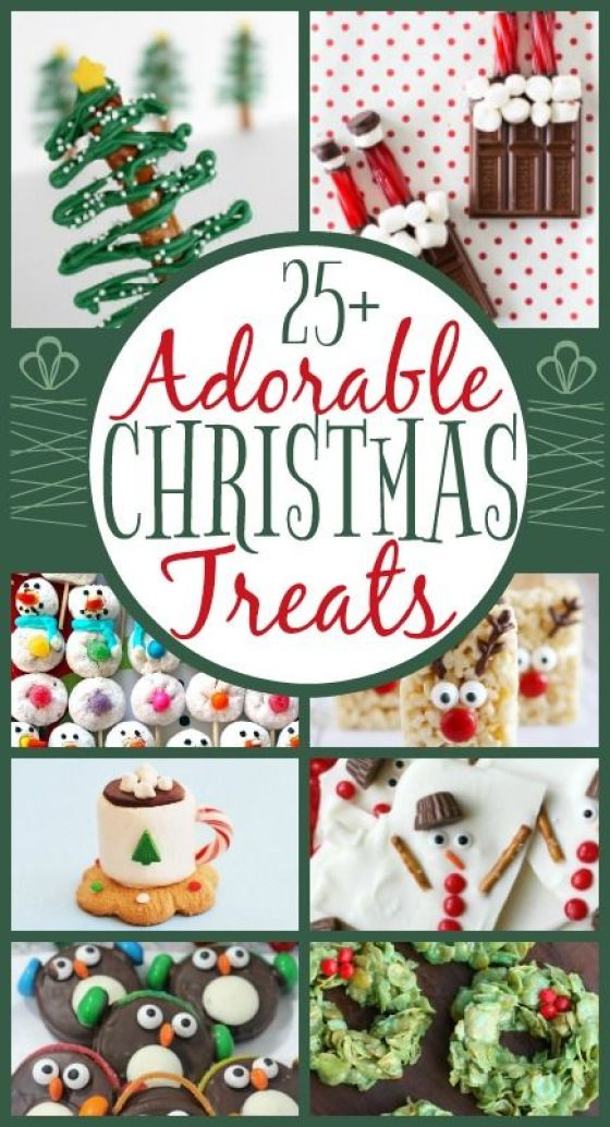 Adorable Kid-Friendly #Christmas Treats | When Christmas time rolls around there are a million treats that you want to bake, eat, buy and share with friends and family. This roundup of treats are not only yummy but adorable too!: