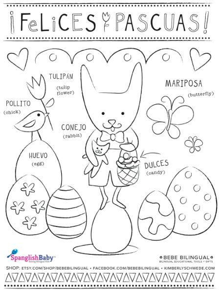 coloring sheets easter coloring sheets and in spanish on pinterest