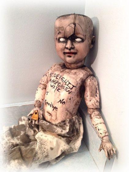 """Creepy Horror Doll """"Ouija Baby"""":"""