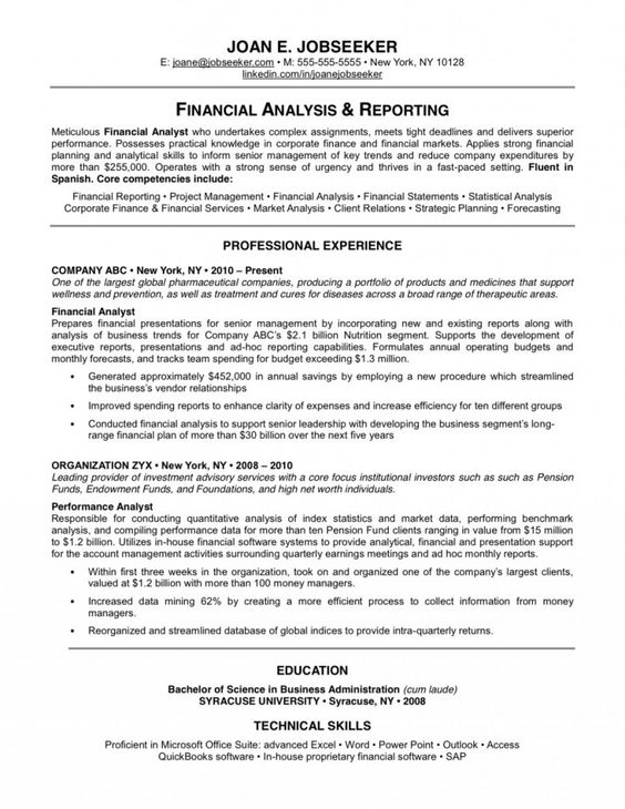 resume examples best resume examples and resume on pinterest