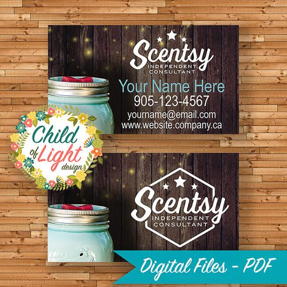 Scentsy Business Cards And Custom Business Cards On Pinterest
