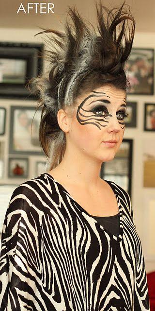 Zebra Face Paint For Sarahs Halloween I Will Do It