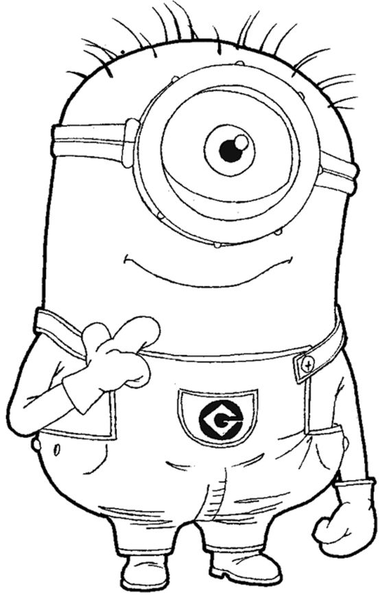 despicable me coloring and coloring pages on pinterest