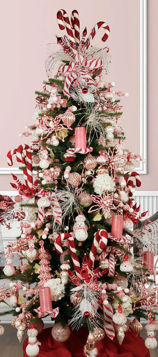 Christmas Tree Candy Cane 'tis the season Pinterest