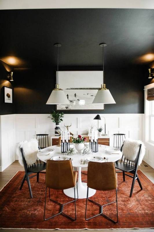 black ceiling! Please paint your ceiling people especially your dinning rooms. Entry's and hallways can always look more finished. It's in the simple details that really pull a room together.: