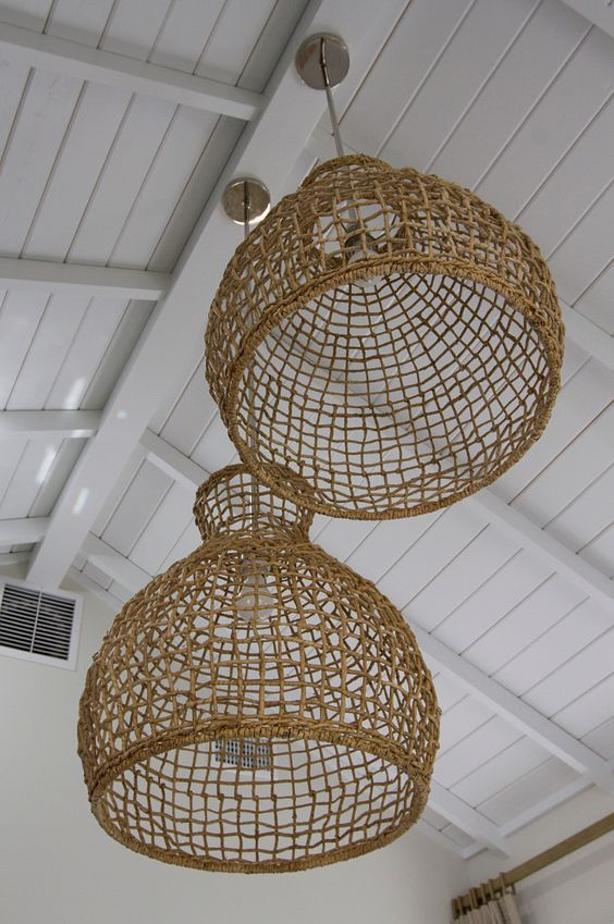 Woven Seagrass Pendant. These Woven Seagrass Pendant are $89 at West Elm: