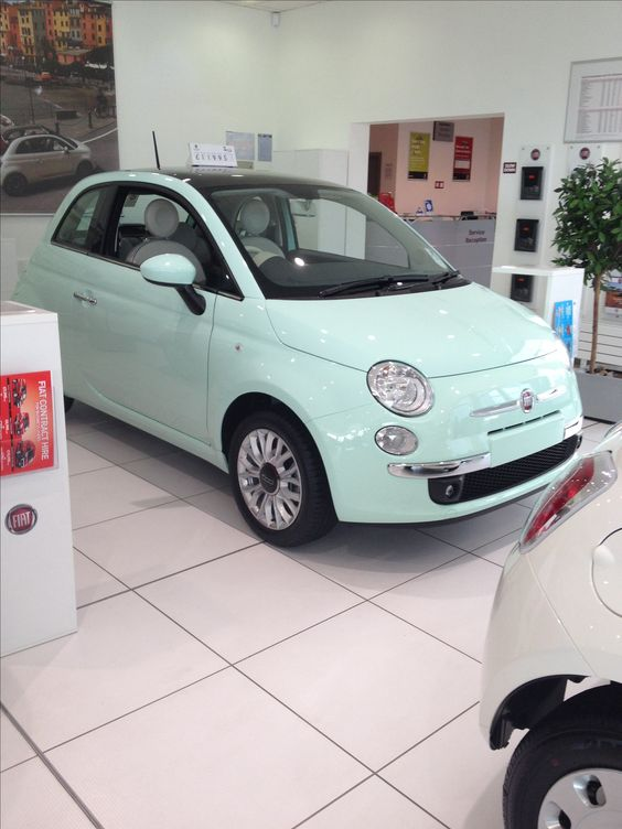 Fiat 500 Mint Green Someone Buy Me This Future 500