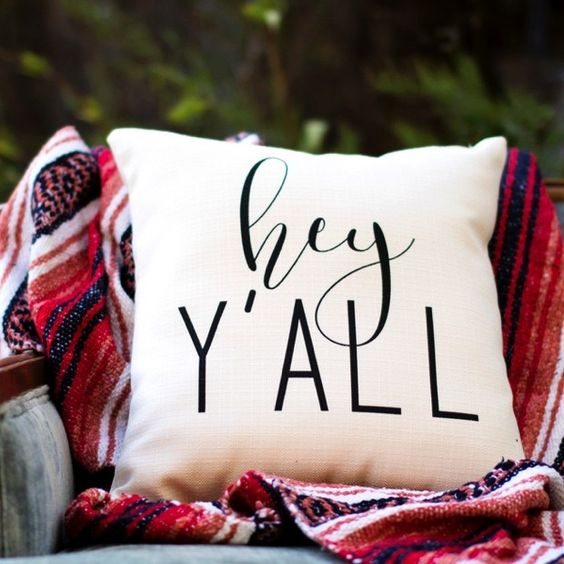 Hey Ya'll Throw Pillow | Antique Farmhouse