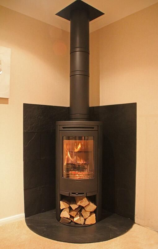 Today S Woodstove Installation Contura 510 With Curved