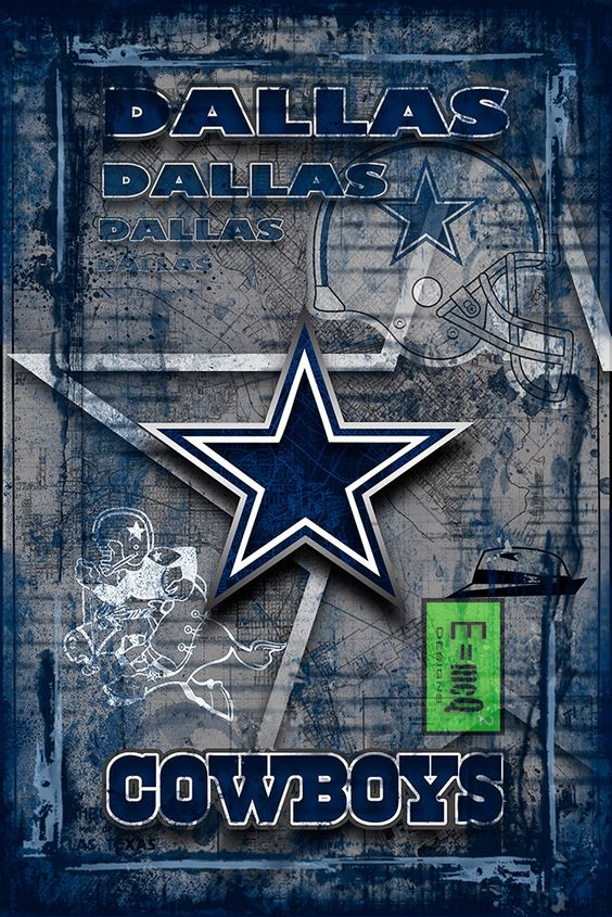 Dallas Cowboys Poster, Cowboys Art Dallas, Texas, Cowboys