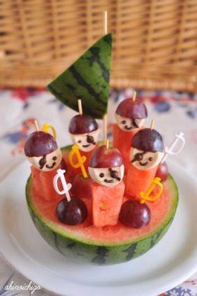 fruta pirata, comida divertida