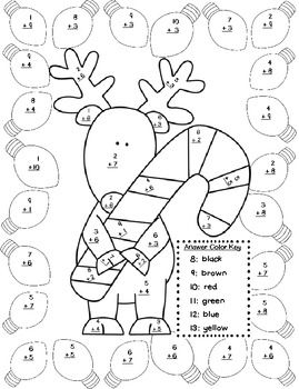 color by numbers numbers and christmas on pinterest