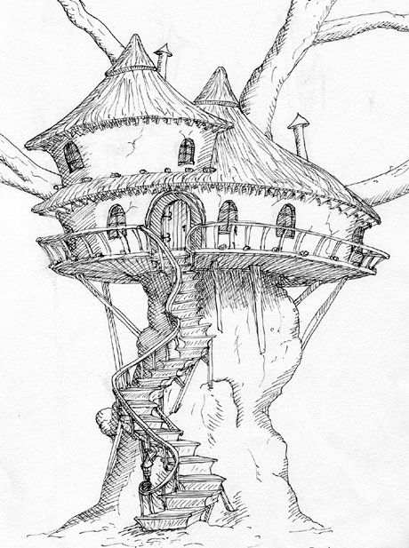 old tree house drawing treehouse pinned by www modlar com more