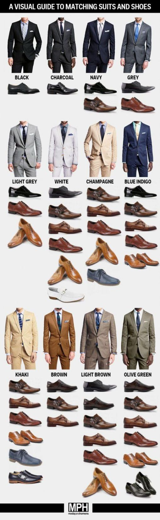 What color shoes to wear with your suit.: