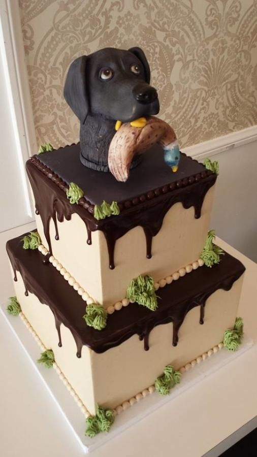 Hunting Dog Groom Cake I Like Yours With The Full Sculpted