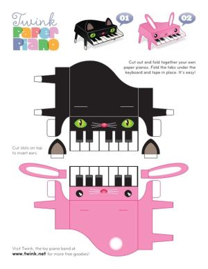Grand piano cute printable would be good to tape to valentine boxes | Piano gifts | Pinterest
