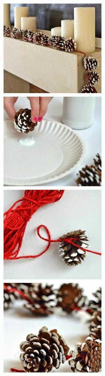 manualidades de navidad con piñas Más: