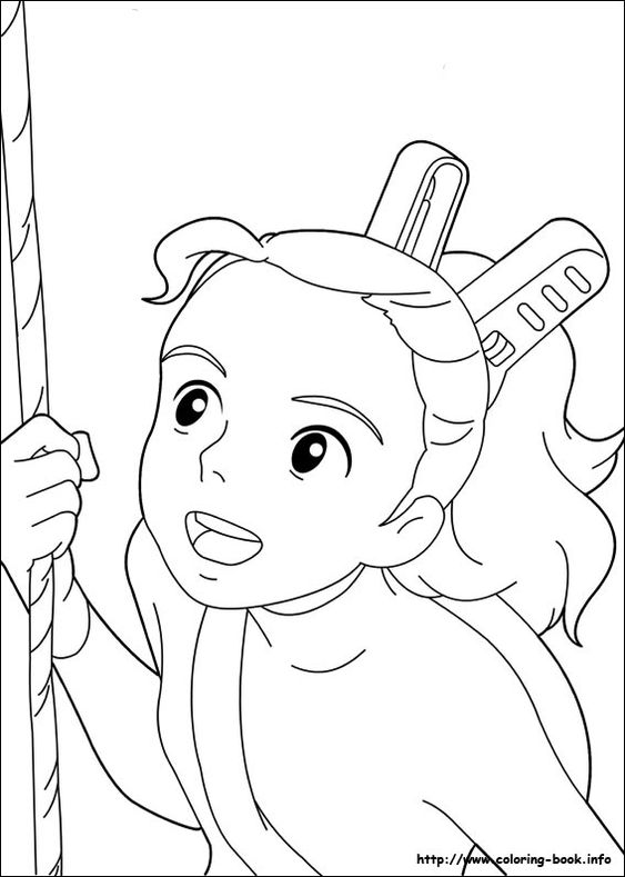the borrower arrietty coloring picture  cool printables