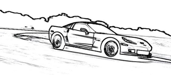 supercars corvettes and coloring pages on pinterest