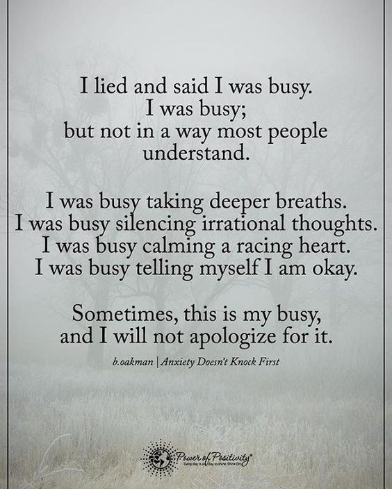 I lied and said I was busy. I was busy; but not in a way most people understand. I was busy taking deeper taking deeper breaths... #powerofpositivity: