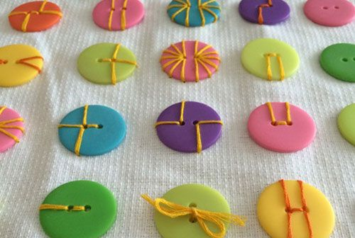 There are so many ways to sew on a button when making craft projects!: