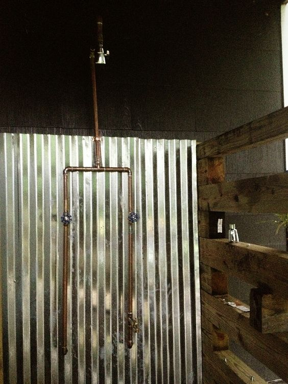 Exposed Copper Pipe Outdoor Shower DIY Time Pinterest