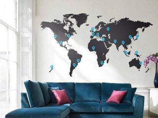 Dicas de decoração com mapa-múndi, nos mais diferentes estilos.: