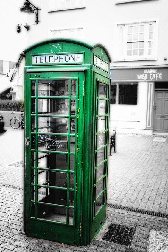Irish Phone Booth In Kinsale Photograph Irish Phone