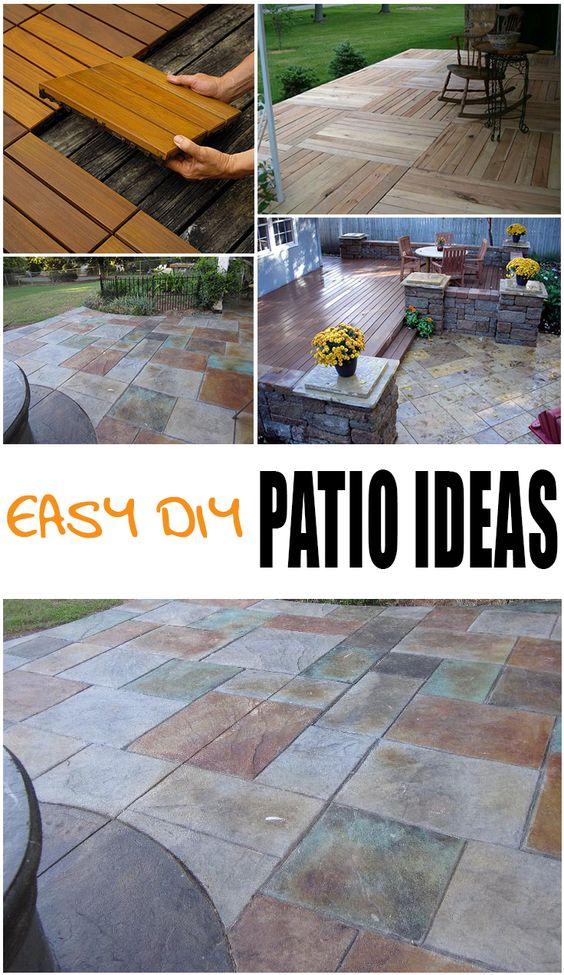 Easy Patio Floor Ideas. diy designs kids pallet playhouse plans ...