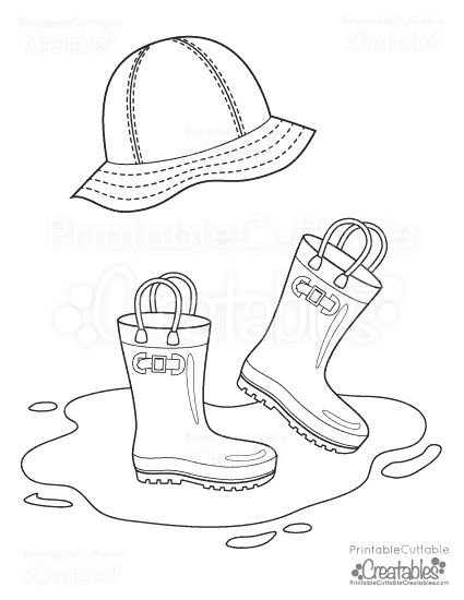 rain hat free printable coloring pages and printable coloring
