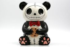 Furrybones Skeleton Panda Cookie Jar