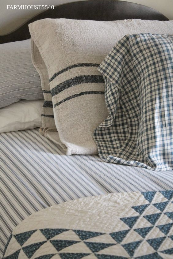 Farmhouse Quilt And Bedding On Pinterest