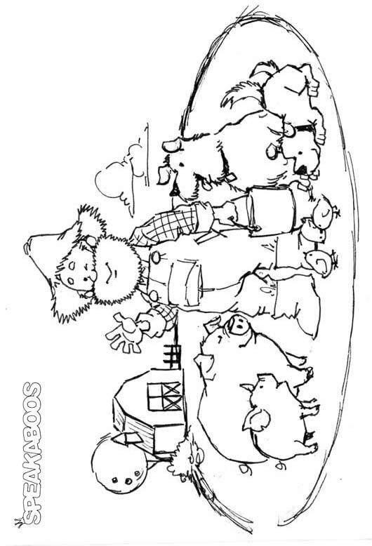 coloring pages old mcdonald speakaboos worksheets color pages