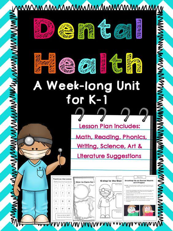 Dental Health Unit for Kindergarten and First Grade