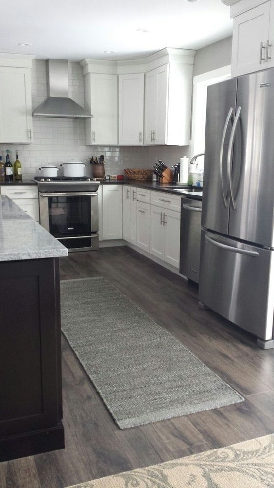 Wood Floors Grey Kitchen Flooring Gray