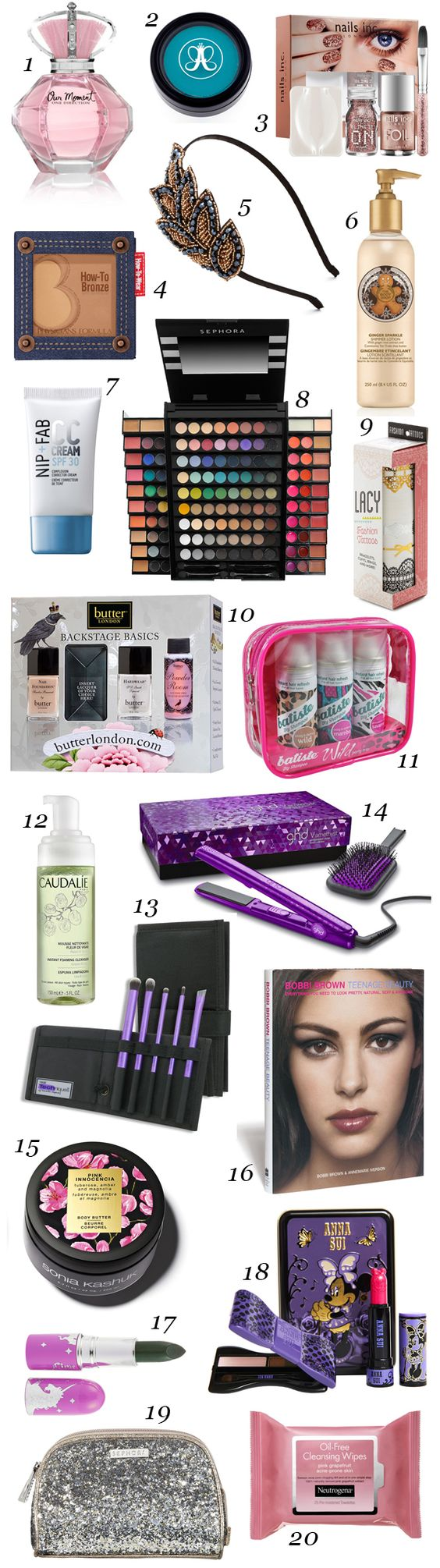 20 Beauty Gift Ideas for Teens and Tweens Girly gifts