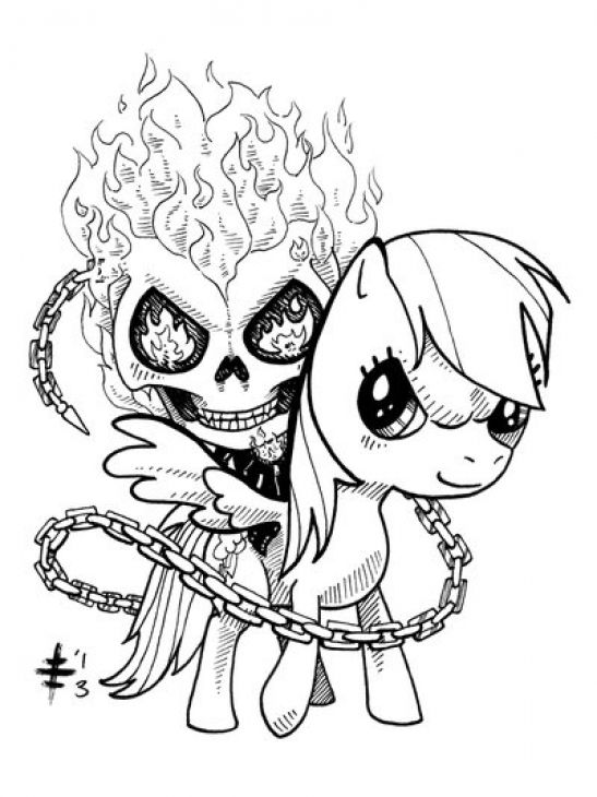 rider my little pony little pony coloring pages ponies ghosts coloring