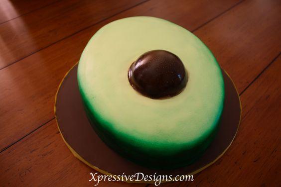Avocado Shaped Cake My Cooking Work Pinterest