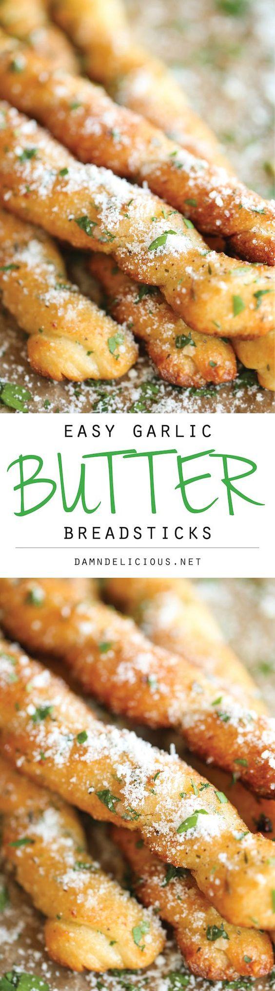 Easy Garlic Butter Breadsticks Recipe Garlic butter